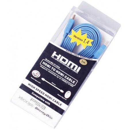 Câble HDMI 1.4 Plat HDTV 3D 1.5M