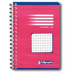 Carnet reliure intégrale Clairefontaine 90 x 140 / 100 pages 70g 5x5