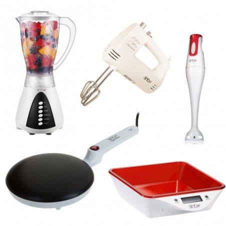 Pack SINBO: Blender + Mixeur + Batteur + Balance de cuisine + Crêpière
