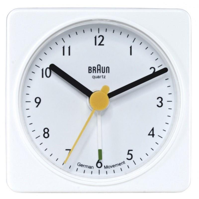 Réveil de voyage analogique Braun BNC002WHWH Blanc