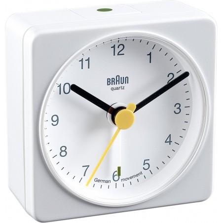 Réveil de voyage analogique Braun BNC002BKBK Blanc