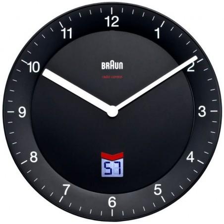 Horloge murale analogique et digitale Braun BNC006BKBK Noir