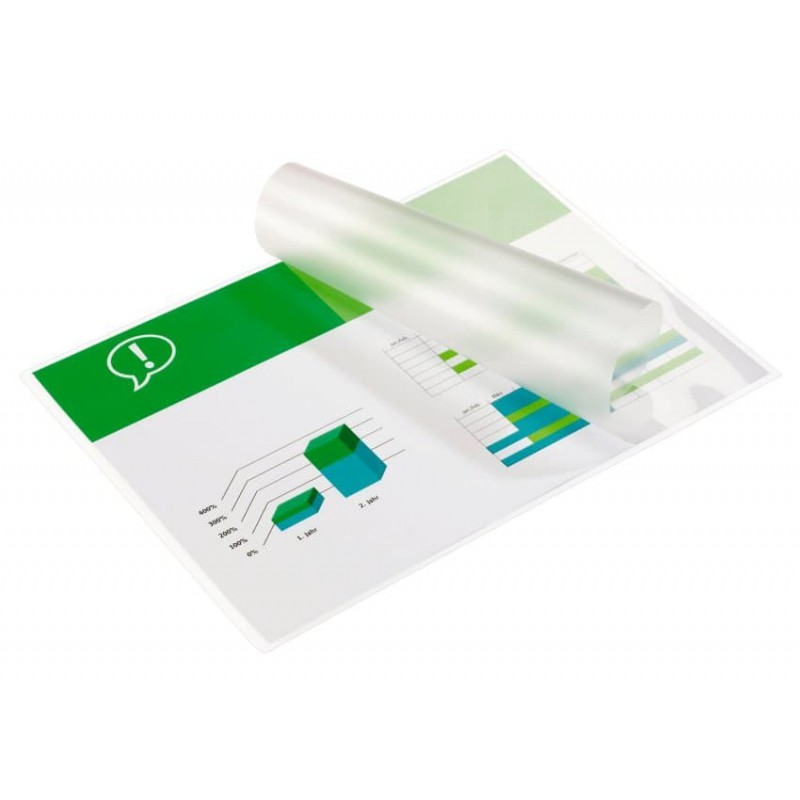 100x Pochettes de plastification GBC A5 brillant 2x75 microns