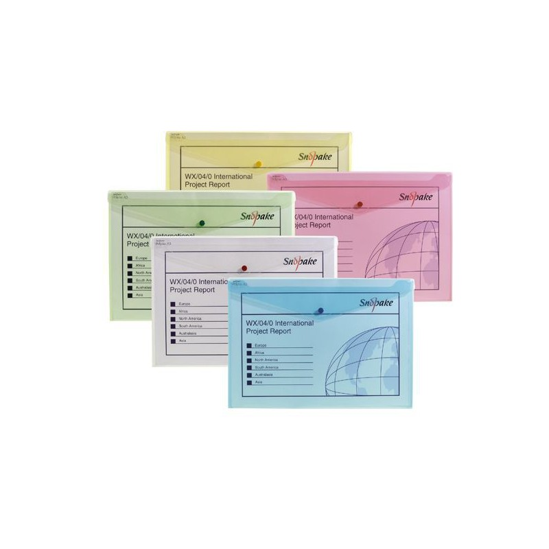 5x Pochettes de classement Snopake Polyfile DL Classique