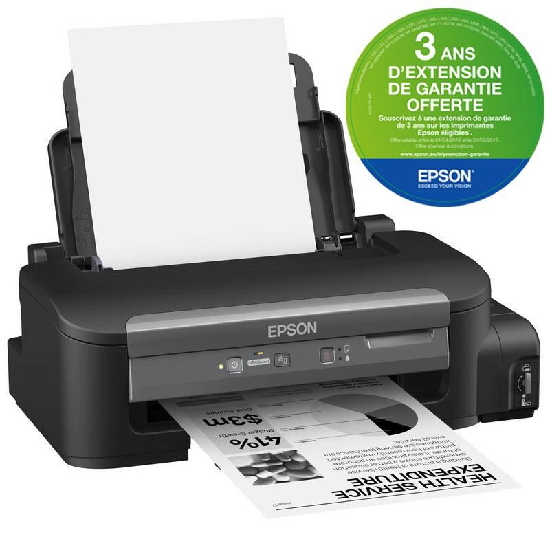 Imprimante à réservoir intégré Epson WorkForce M100 + 1 Bouteille supl 140 ML / Garantie 3 ans