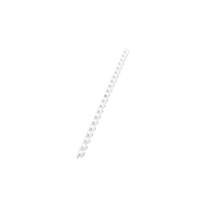 10 Reliures Spirale Plastique 10mm Blanc
