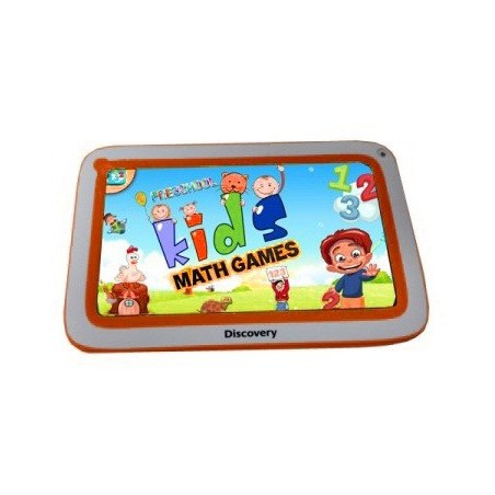 "Tablette Discovery Happy Space 7"" Blanc&Orange + Montre"