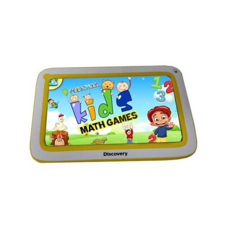 "Tablette Discovery Happy Space 7"" Blanc&Jaune + Montre"