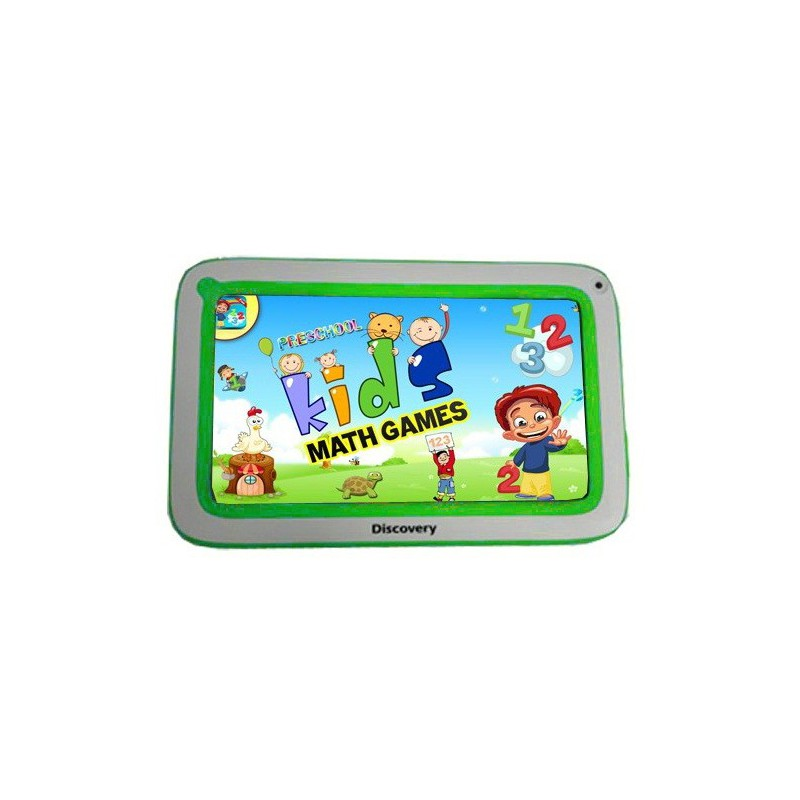 "Tablette Discovery Happy Space 7"" Blanc&Vert + Montre"