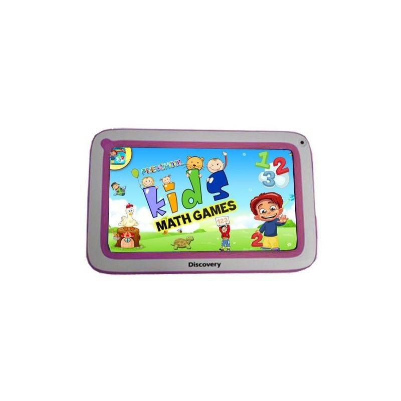 "Tablette Discovery Happy Space 7"" Blanc&Rose + Montre"