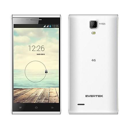 Téléphone Portable Evertek EverTrendy + 4G / Double SIM / Blanc + SIM Offerte
