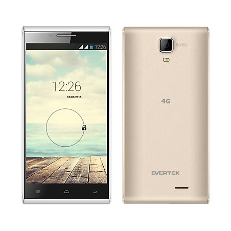 Téléphone Portable Evertek EverTrendy + 4G / Double SIM / Gold + SIM Offerte