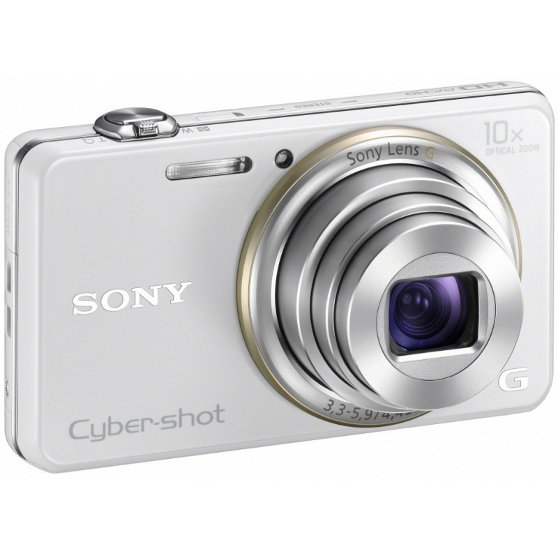 Appareil Photo Sony Cyber Shot WX100 / 18 MP / Blanc