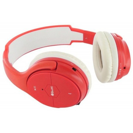 Casque BeeWi Bluetooth + Câble / Rouge