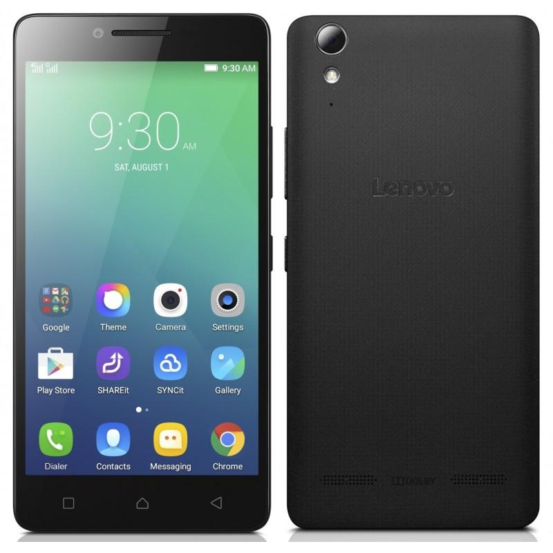 Téléphone Portable Lenovo A6010 / 4G / Double SIM / Noir + SIM Offerte