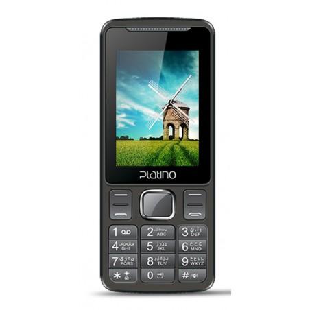 Téléphone Portable Platino Tulipe / Double SIM / Noir