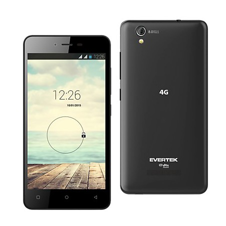 Téléphone Portable Evertek EverMiracle Plus / Double SIM / Noir + SIM Offerte
