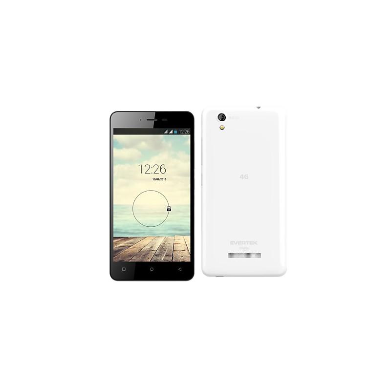 Téléphone Portable Evertek EverMiracle S / 4G / Double SIM / Blanc + SIM Offerte