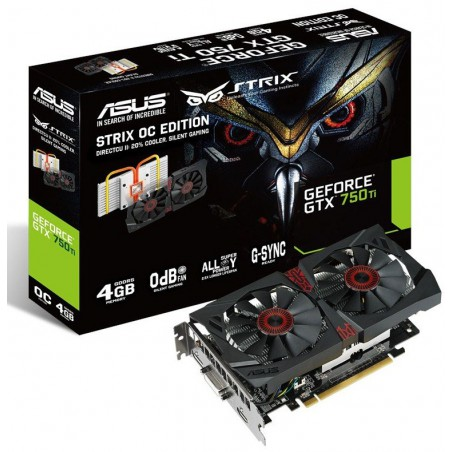 Carte graphique ASUS STRIX-GTX750TI-OC-2GD5 / 2 Go