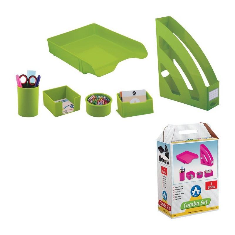 Ensemble de bureau en Plastique 6 pièces / Vert
