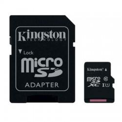 Carte Mémoire Kingston 64 Go microSDXC Classe 10 avec Adaptateur