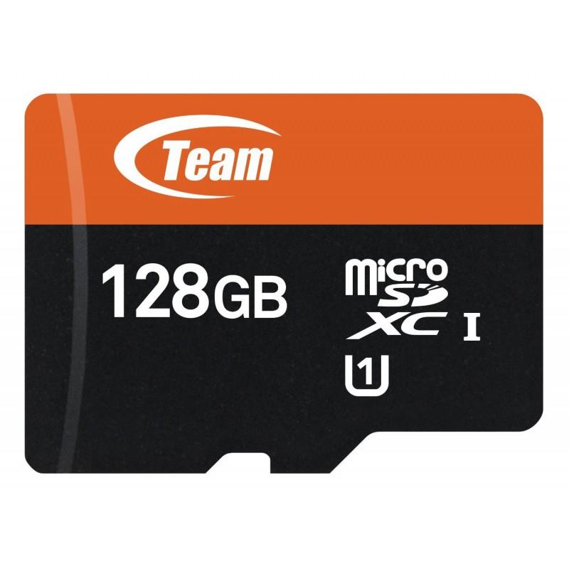 Carte Mémoire Team Micro SDXC 128 Go Class 10 avec Adaptateur