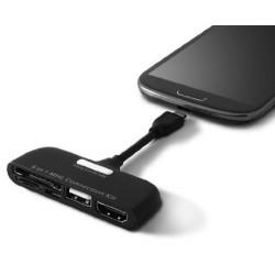 Kit Adaptateur Ksix 5en1 pour Smartphone / Noir