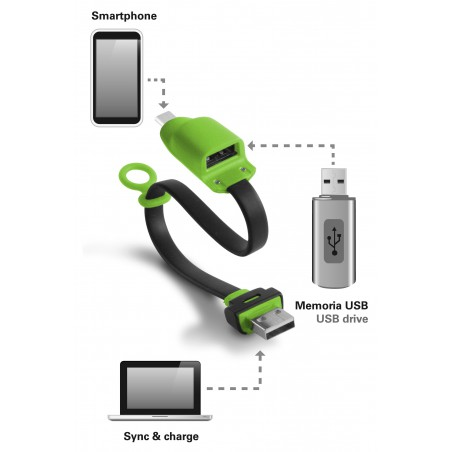 Câble KSix USB vers OTG Micro USB