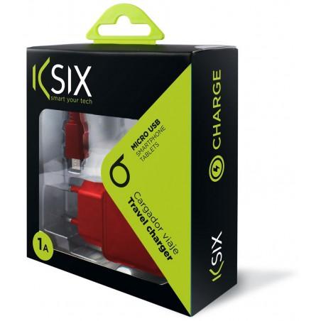 Chargeur Secteur Ksix Micro USB / Rouge