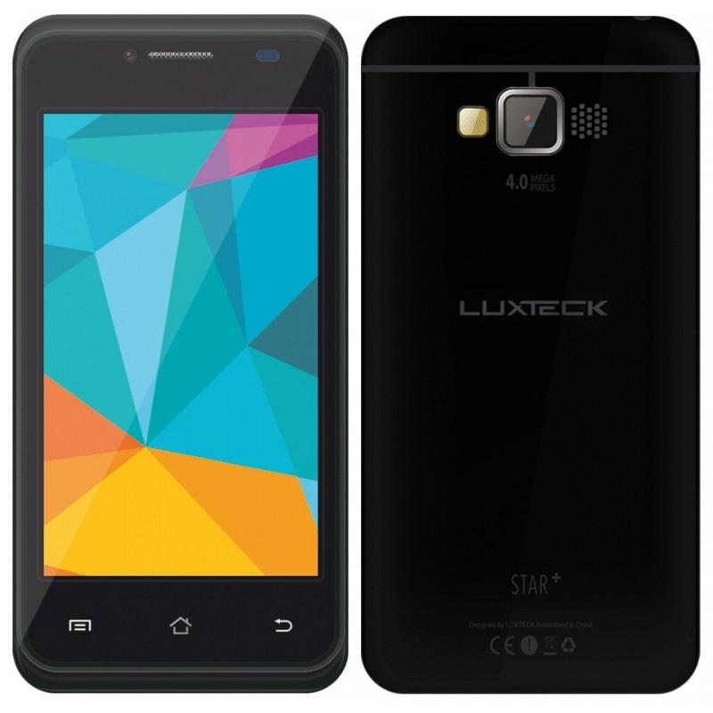 Téléphone Portable Luxteck Star+ / 3G / Double SIM / Noir + Film de protection + Coque + SIM Offerte