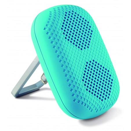 Mini Enceinte Ksix Bluetooth avec Socle intégré / Bleu