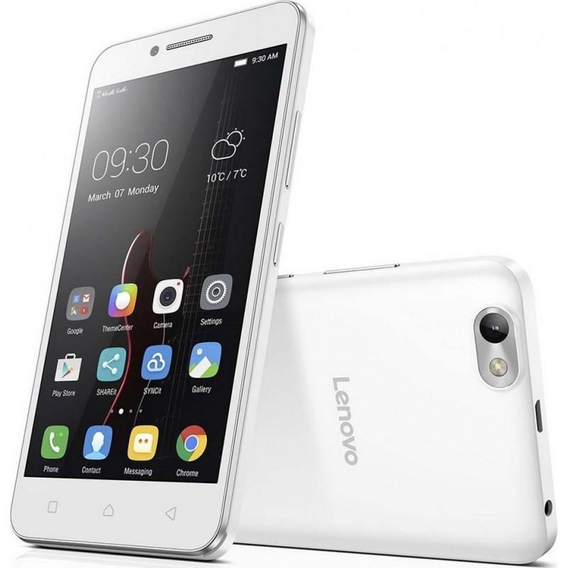 Téléphone Portable Lenovo Vibe C A2020 / 4G (LTE) / Double SIM / Blanc + SIM Offerte