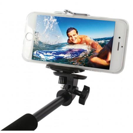 Perche télescopique selfie Ksix Bluetooth et Etanche avec Télécommande