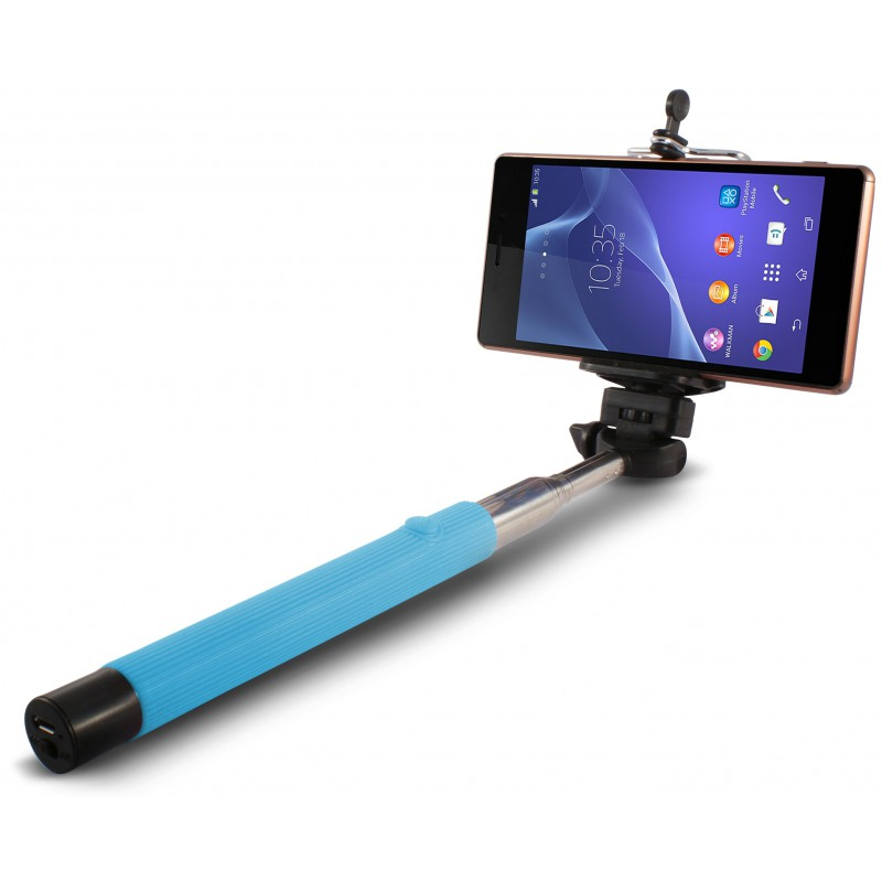 Perche télescopique selfie Ksix Bluetooth / Bleu
