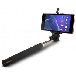 Perche télescopique selfie Ksix Bluetooth / Noir