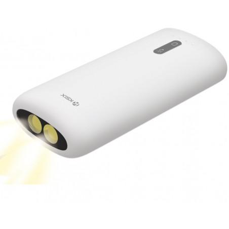 Power Bank Ksix 4000 mAh avec Torche intégrée / Blanc