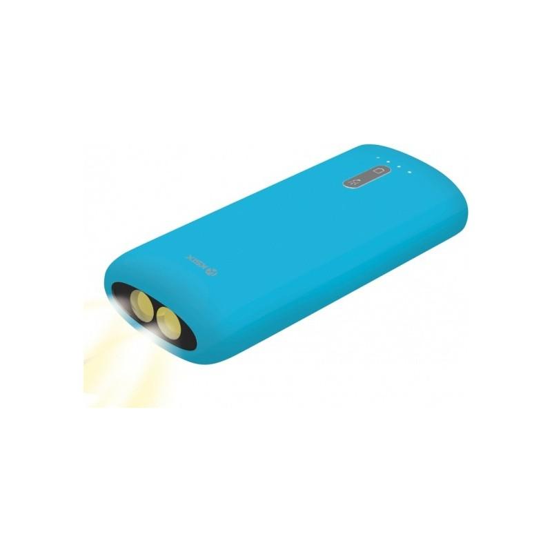 Power Bank Ksix 4000 mAh avec Torche intégrée / Bleu