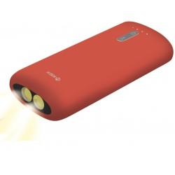 Power Bank Ksix 4000 mAh avec Torche intégrée / Rouge