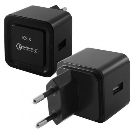 Chargeur Ultra rapide Ksix QuickCharge / Noir