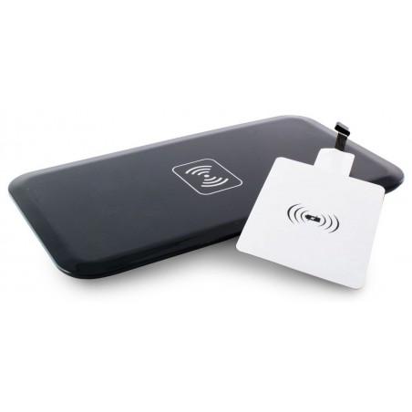 Pack Ksix Qi : Chargeur Sans Fil + Micro Récepteur