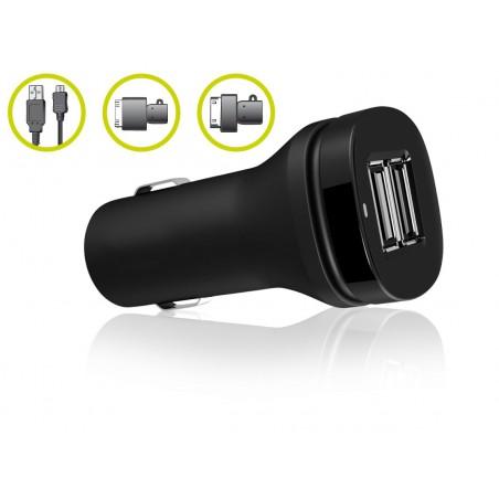 Chargeur Allume Cigare Ksix + Câble USB de synchronisation
