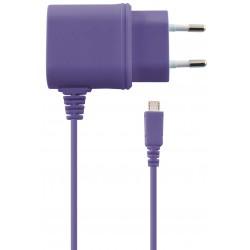Chargeur Secteur Ksix Micro USB / Violet