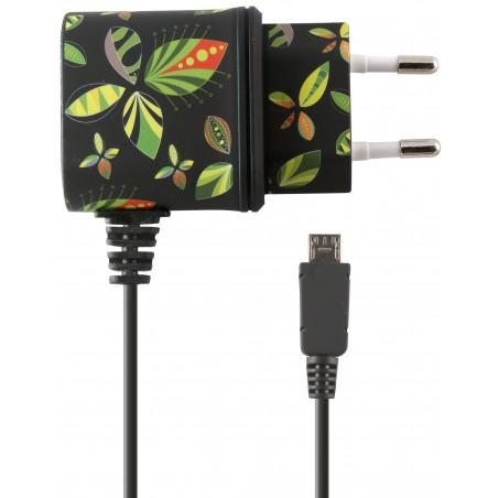 Chargeur Secteur Ksix Micro USB / Noir Tropical