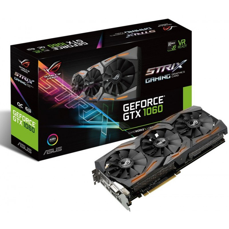 Carte graphique Asus Strix GTX 1060 O6G Gaming / 6 Go