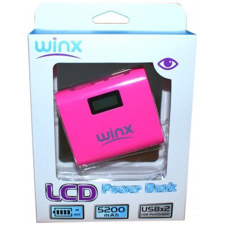 Power Bank Winx 5200mAh avec Afficheur / Noir