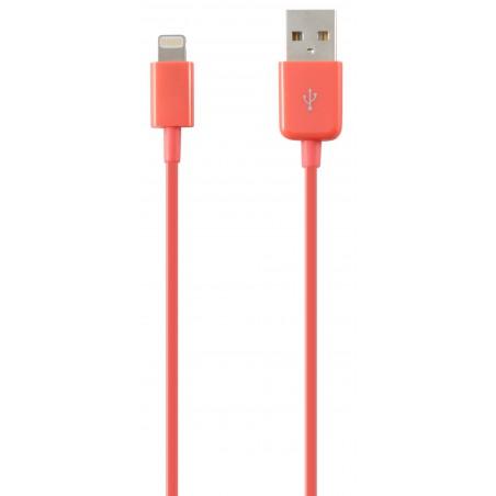 Câble Ksix USB vers Lightning 1m / Rose