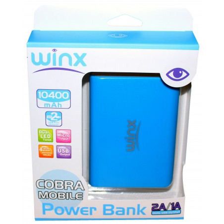 Power Bank Winx 10400 mAh avec Afficheur / Blanc