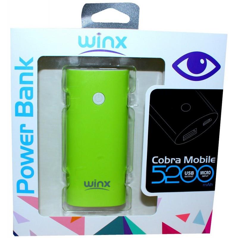 Power Bank Winx PB052 / 5200mAh / Vert