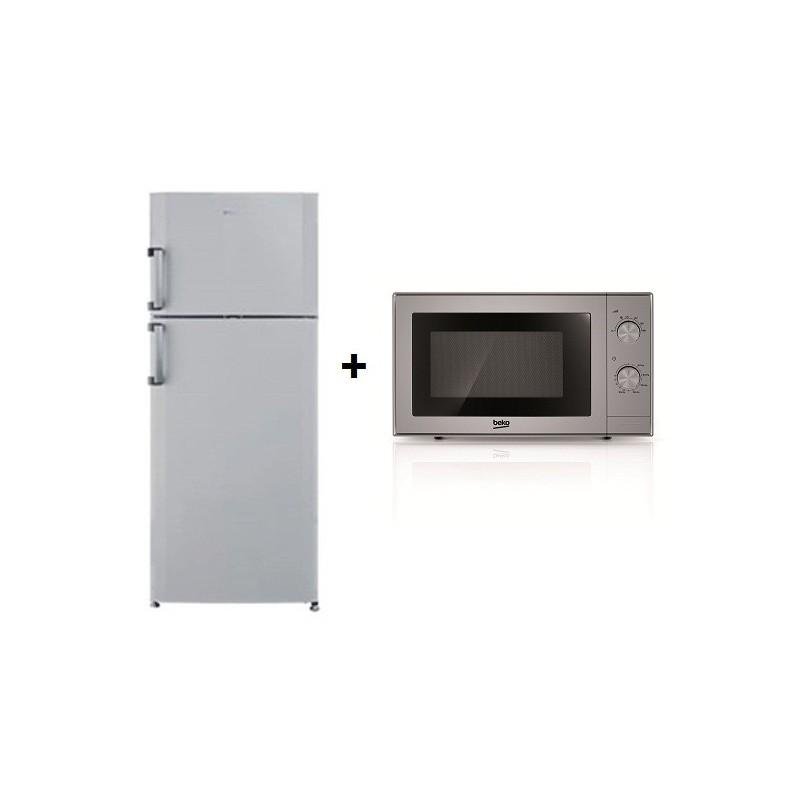 r frig rateur beko no frost 500l silver micro ondes. Black Bedroom Furniture Sets. Home Design Ideas