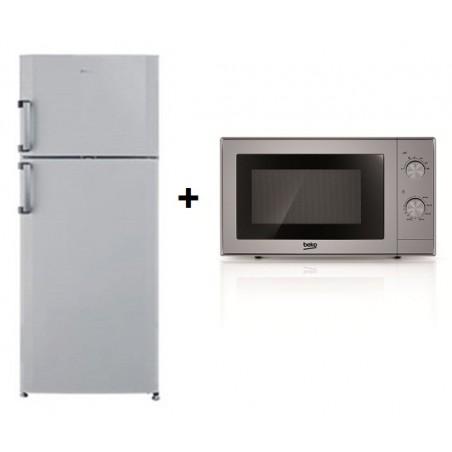 Réfrigérateur BEKO No Frost 500L / Silver + Micro-ondes